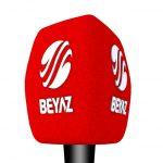 Beyaz TV Logo Baskılı Mikrofon Süngeri